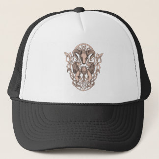 Gorra De Camionero Celtic Knotwo del escudo de armas del árbol del