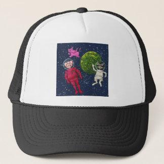 Gorra De Camionero Cerdo, mapache y elefante rosado