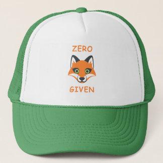 Gorra De Camionero Cero dibujo animado dado Fox de moda de Emoji de