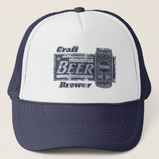 Gorra De Camionero Cervecero de la cerveza del arte - el azul y el