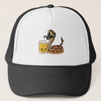 Gorra De Camionero Cerveza de consumición de la serpiente de cascabel