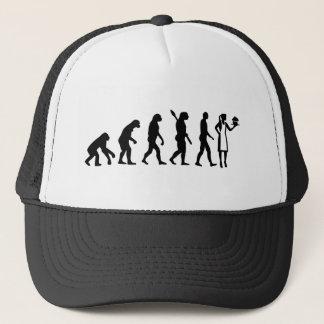 Gorra De Camionero Chef de repostería de la hembra de la evolución