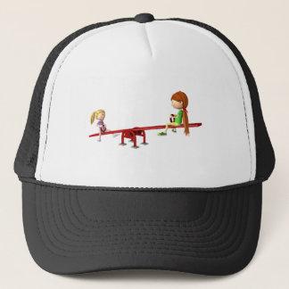 Gorra De Camionero Chicas del dibujo animado en una oscilación