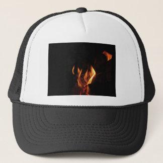 Gorra De Camionero Chimenea ardiente con las llamas del fuego