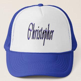 Gorra De Camionero Christopher azul, nombre, logotipo,