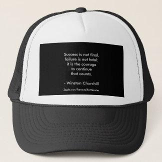 Gorra De Camionero Cita de Winston Churchill; Éxito 2,0