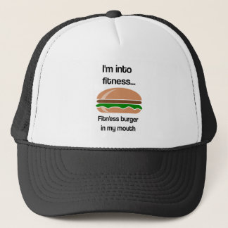 Gorra De Camionero Cita divertida de la hamburguesa de la aptitud