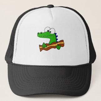 Gorra De Camionero Cocodrilo divertido que come las ilustraciones del