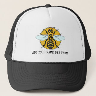 Gorra De Camionero Colmenar de la granja de la abeja del panal de la