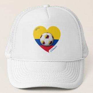 Gorra De Camionero Colombia Fútbol Nacional 2014 Balón y Corazón