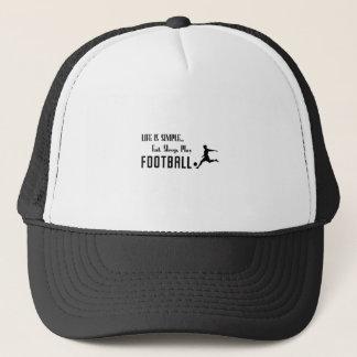 Gorra De Camionero coma el fútbol del juego del sueño