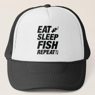 Gorra De Camionero Coma la repetición de los pescados del sueño