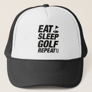 Gorra De Camionero Coma la repetición del golf del sueño