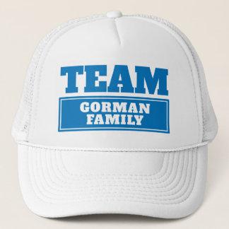 Gorra De Camionero Combine el nombre personalizado azul del equipo o