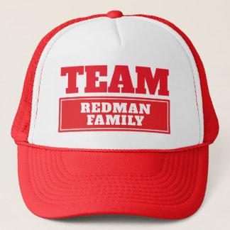 Gorra De Camionero Combine el nombre personalizado rojo del equipo o