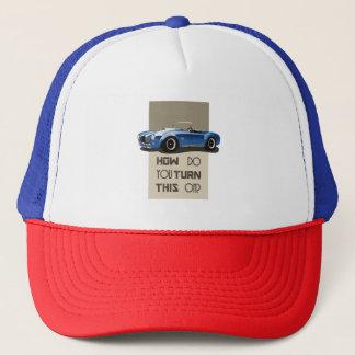 Gorra De Camionero Cómo usted da vuelta a esto en el coche azul de la