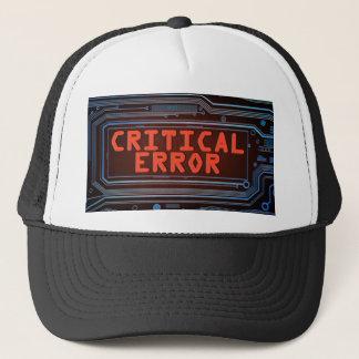 Gorra De Camionero Concepto del error crítico