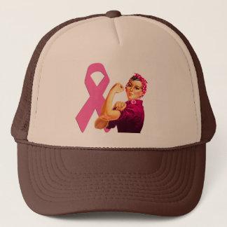 Gorra De Camionero Conciencia Rosie del cáncer de pecho el remachador