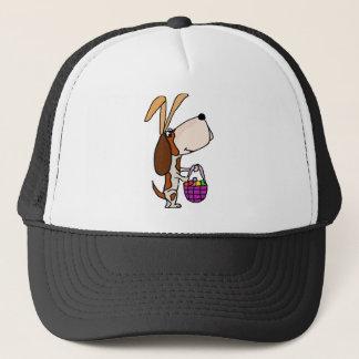 Gorra De Camionero Conejito de pascua divertido del perro de Basset