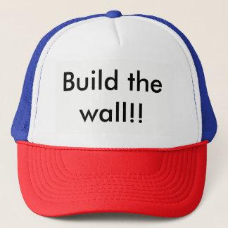 Gorra De Camionero Construya el casquillo de la pared