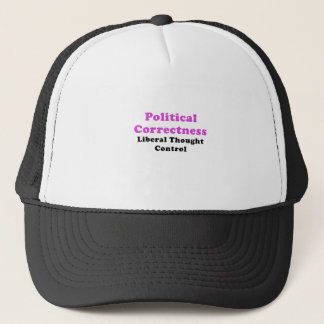 Gorra De Camionero Control de pensamiento liberal de la corrección