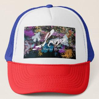 Gorra De Camionero Coral suave colorido, flores marinas
