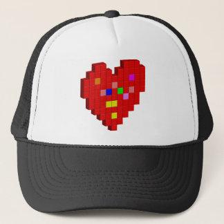 Gorra De Camionero corazón de 8 bits