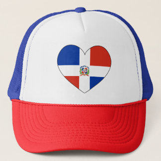 Gorra De Camionero Corazón de la bandera de la República Dominicana