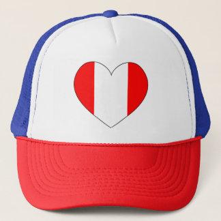 Gorra De Camionero Corazón de la bandera de Perú