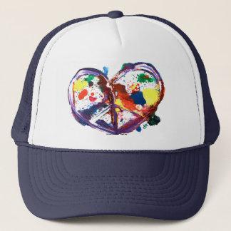 Gorra De Camionero corazón de la paz
