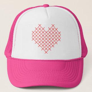 Gorra De Camionero Corazón de la puntada de la Cruz Roja