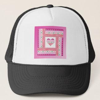 Gorra De Camionero Corazón del ajuste en el marco del ajuste, rosa,