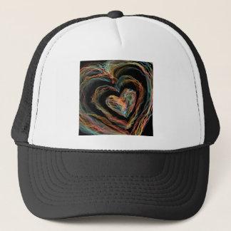Gorra De Camionero Corazón del fuego del arco iris