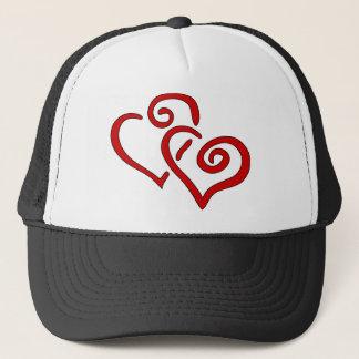 Gorra De Camionero Corazón doble rojo