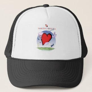 Gorra De Camionero corazón principal de Carolina del Norte, fernandes