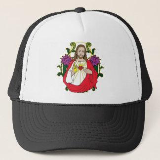 Gorra De Camionero Corazón sagrado divino de Jesús