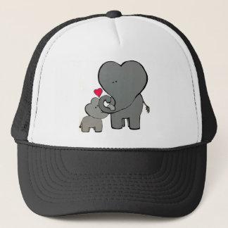 Gorra De Camionero Corazones del elefante - un amor inolvidable