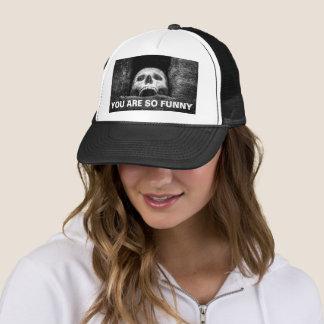 Gorra De Camionero Cráneo de Halloween usted es tan divertido