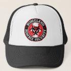 Gorra De Camionero Cráneo de la seguridad del zombi de la patria -