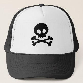 Gorra De Camionero Cráneo-negro