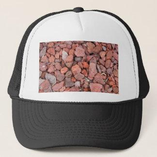 Gorra De Camionero Cubierta de tierra roja de las rocas volcánicas