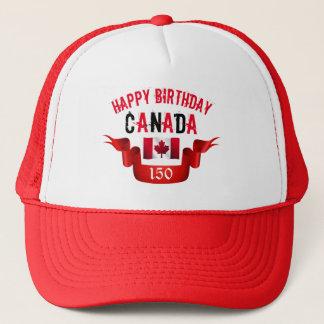 Gorra De Camionero Cumpleaños de Canadá del feliz cumpleaños 150o -