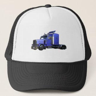 Gorra De Camionero Del azul camión metálico semi en la opinión del