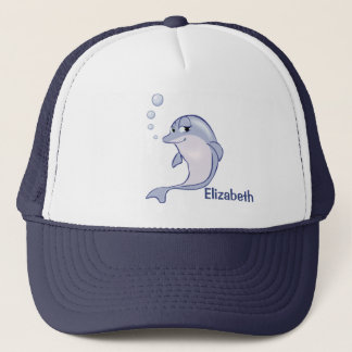 Gorra De Camionero Delfín azul lindo a personalizar