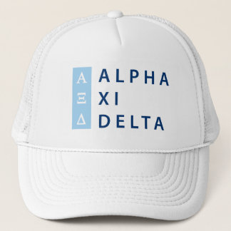 Gorra De Camionero Delta de la alfa XI apilado