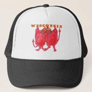 Gorra De Camionero Demonios de Wisconsin Cheesehead
