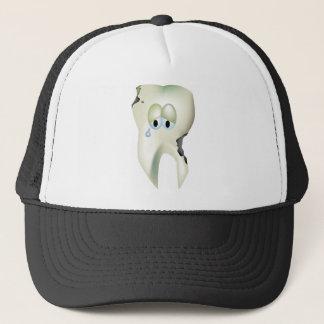 Gorra De Camionero Dentista divertido del diente del dibujo animado