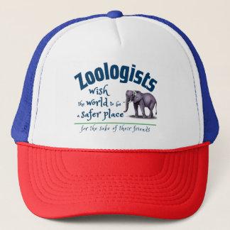 Gorra De Camionero Deseo del zoologista el mundo un lugar más seguro