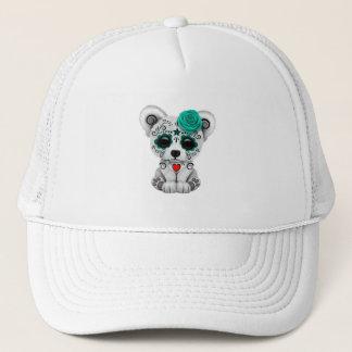 Gorra De Camionero Día azul del oso polar del bebé muerto