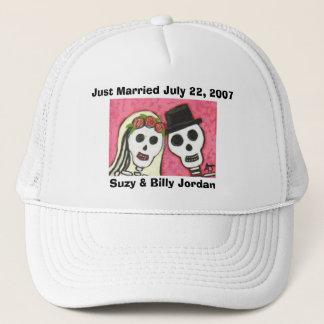 Gorra De Camionero Día de los muertos - apenas casquillo casado
